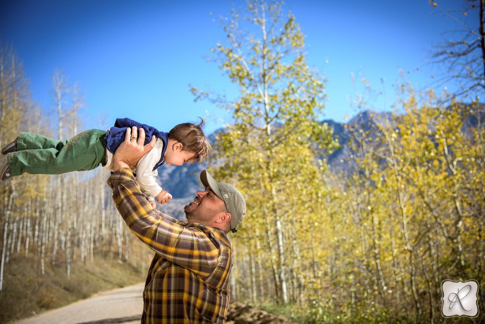 Fall in Durango Colorado professional family portraits