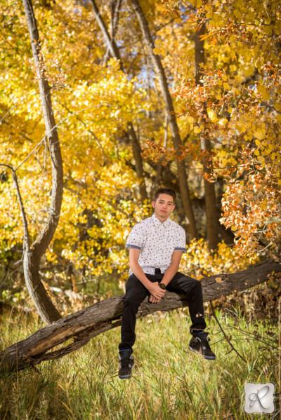 professional fall senior portraits in Durango, Colorado
