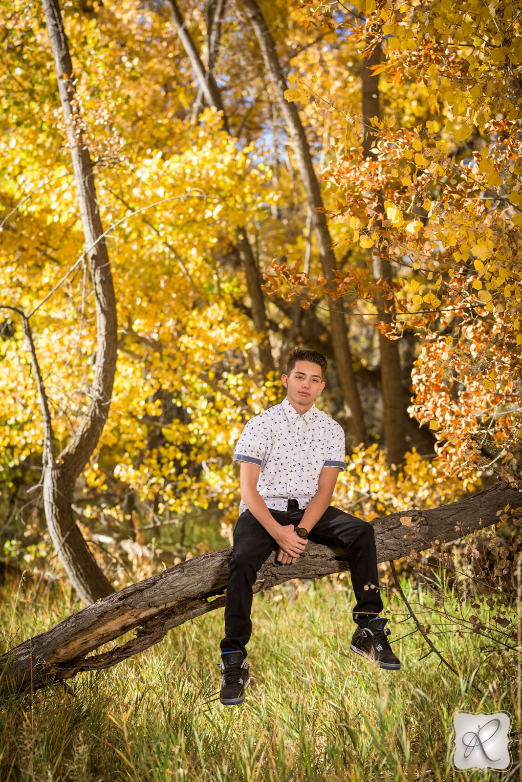professional fall senior portraits in Durango, Colorado