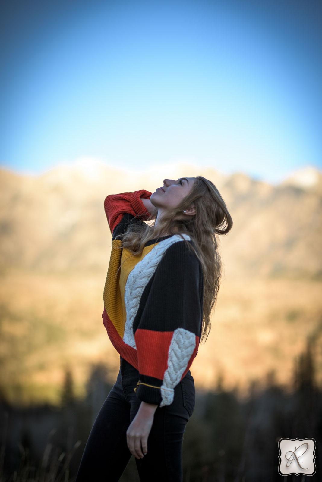 outdoor senior pictures in Durango Colorado