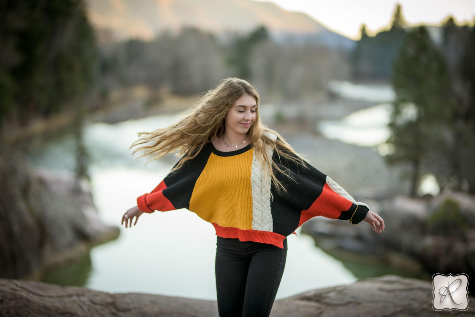 professional senior portraits in Durango Colorado