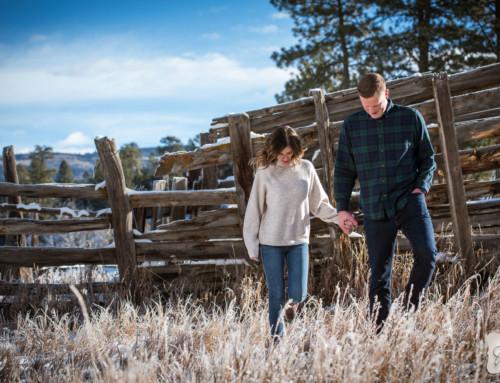 Katie & Alex's Durango Colorado Winter Engagement Portraits