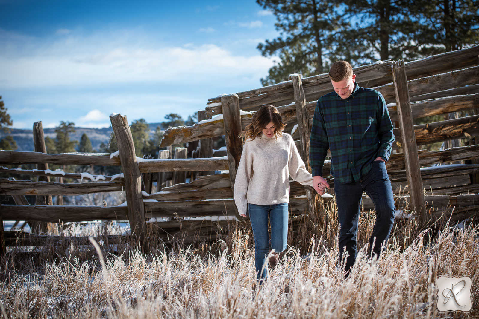 Katie & Alex's Durango Colorado Winter Engagement Portraits