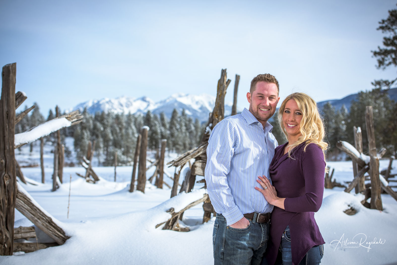 Winter Engagement Pictures Durango