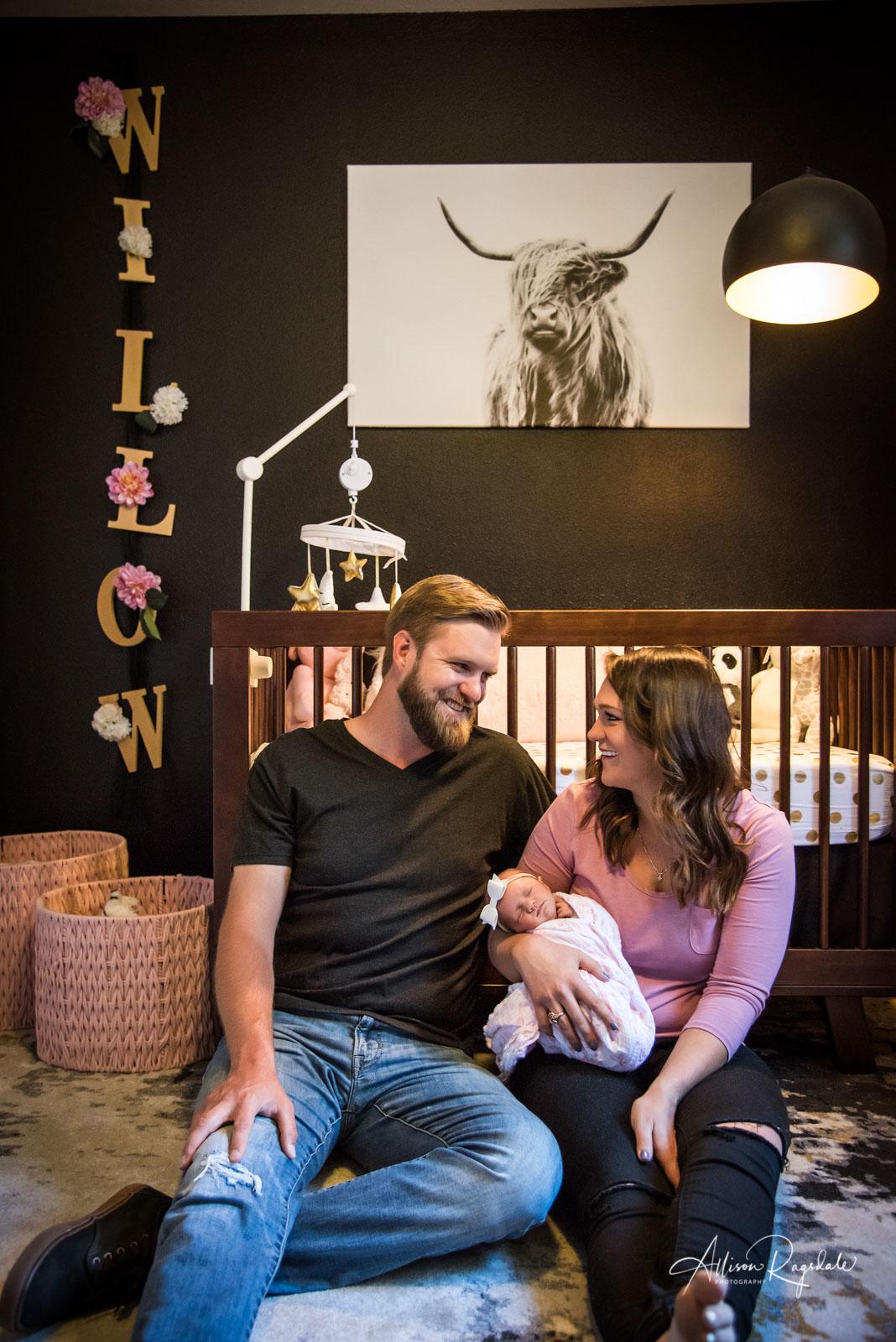 In home newborn photos.