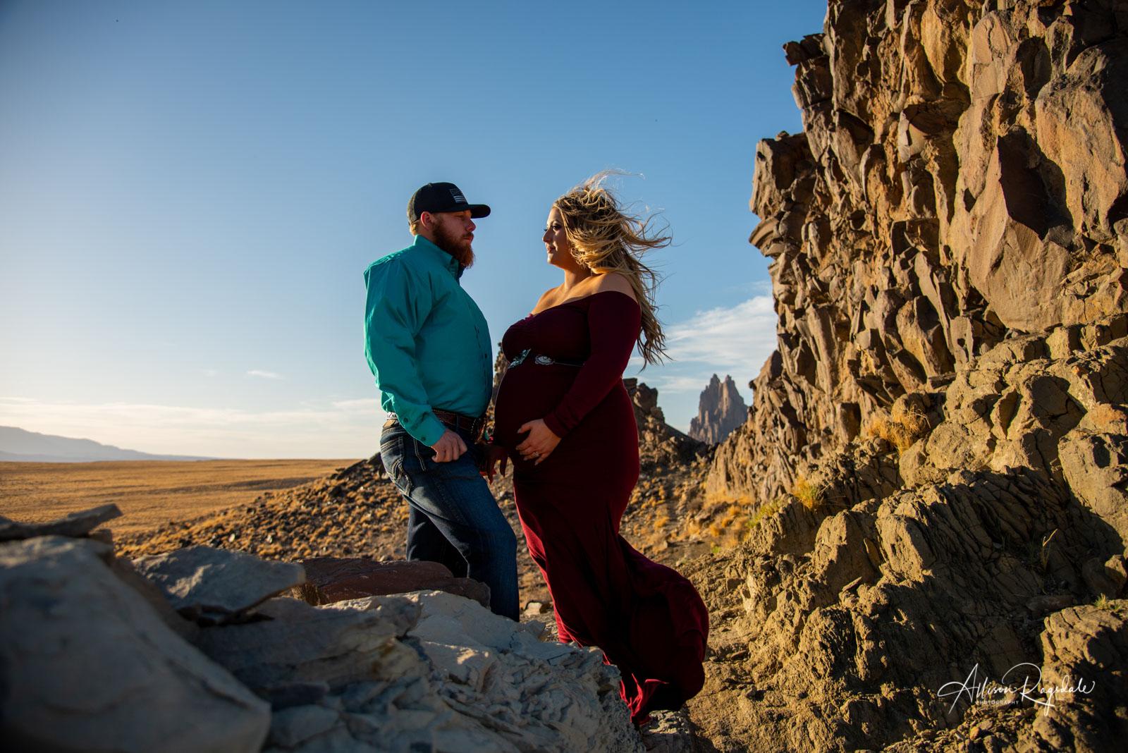 Desert Maternity Portraits