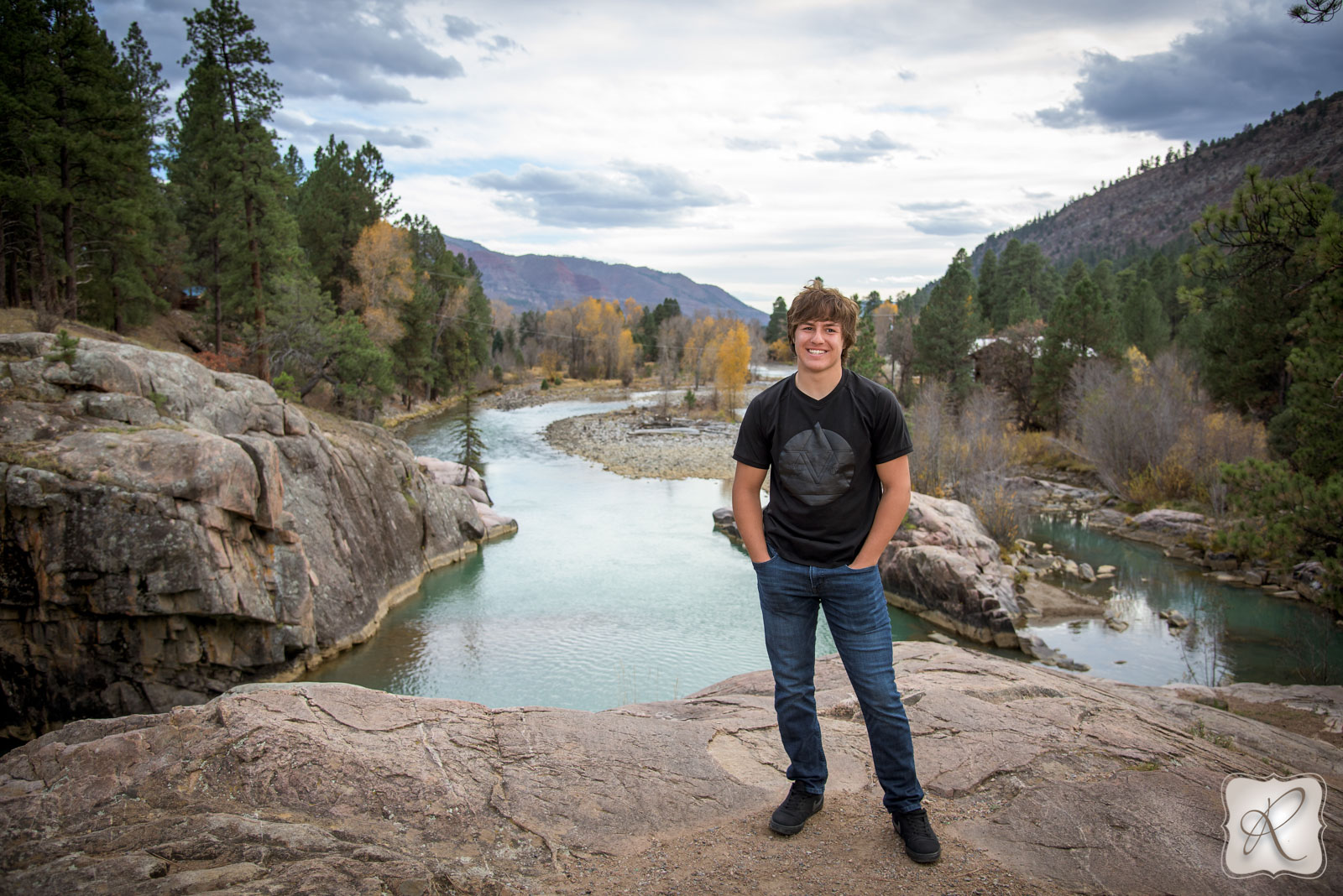 fall senior pictures in Durango Colorado