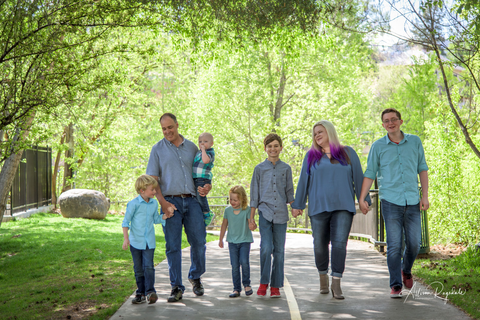 Outdoor family portraits in Durango, Colorado