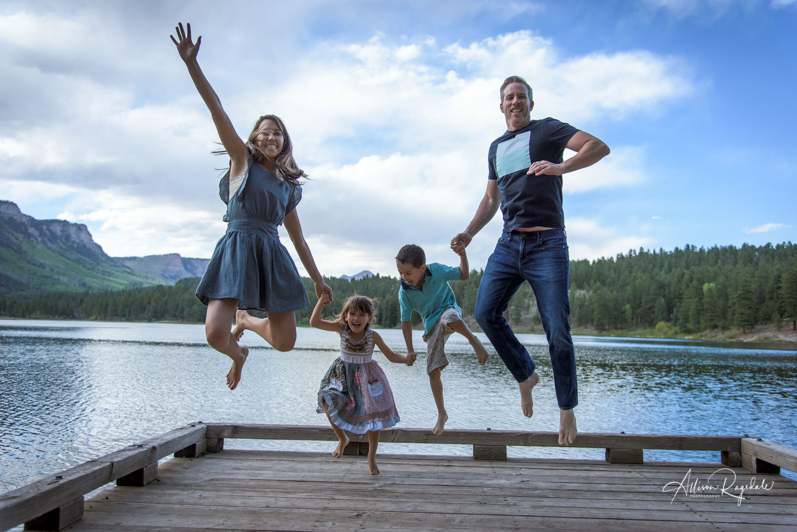 funny creative family portraits in Durango Colorado