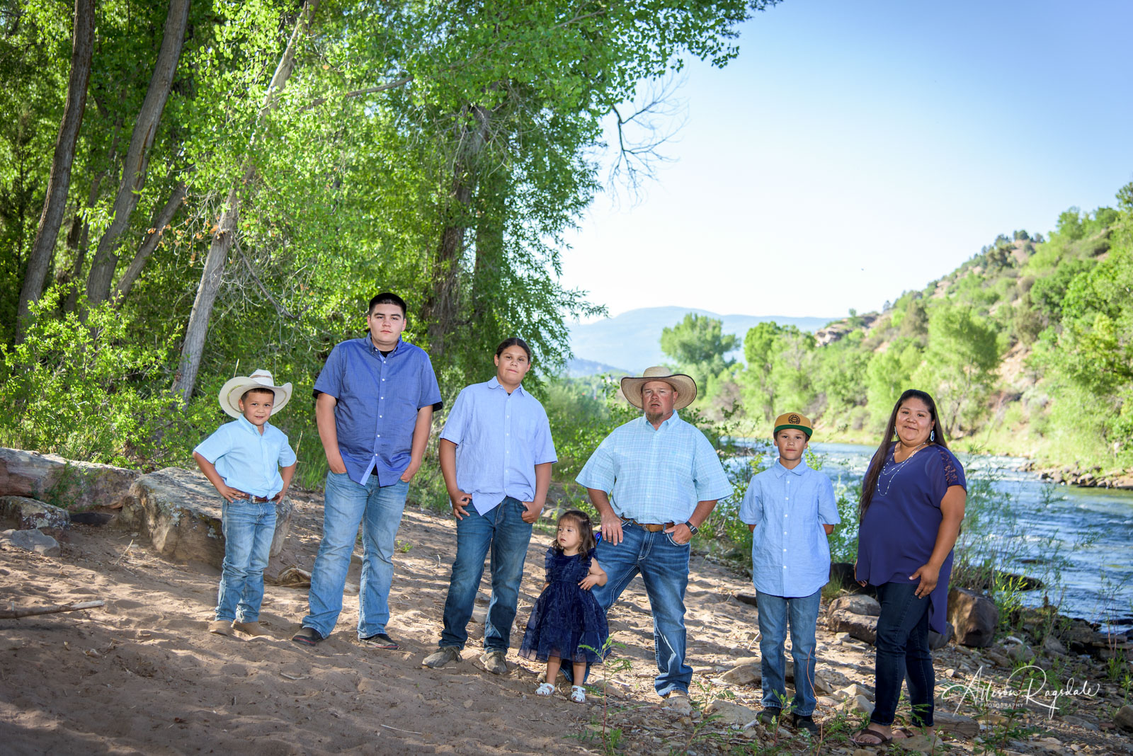 Outdoor family portraits in Durango, Colorado