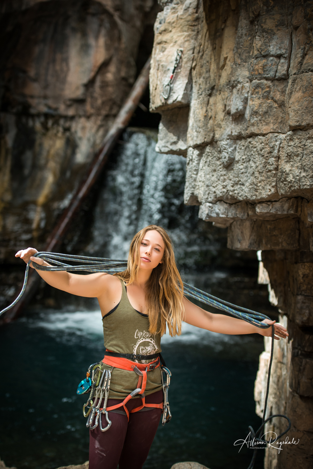 seniors climbing adventure portraits in Durango Colorado