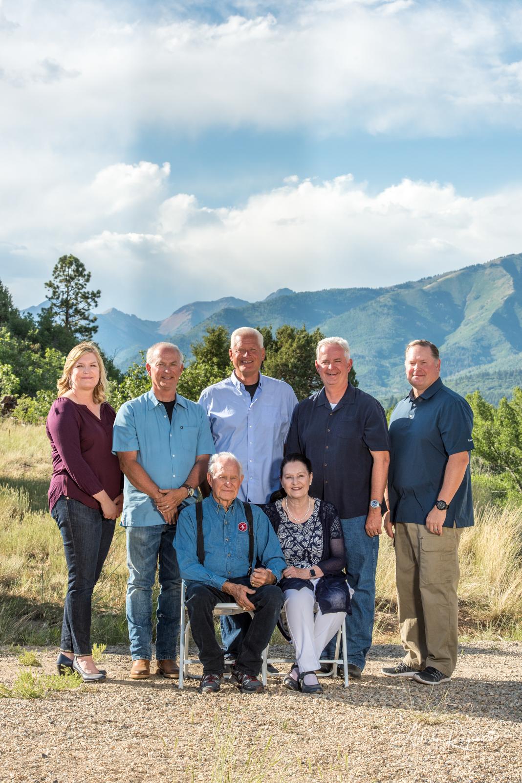 professional outdoor family portraits in Durango Colorado