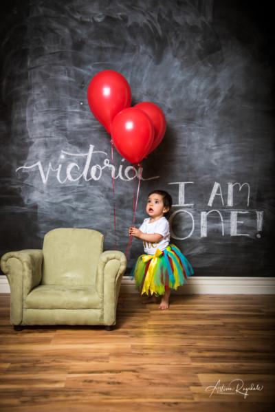 Victoria's One Year Cake Smash in Durango Colorado