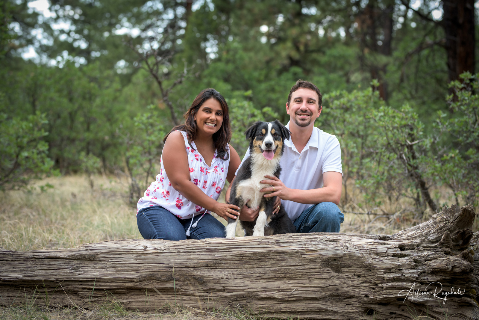 couple and dog portraits in Durango colorado by Allison Ragsdale Photography