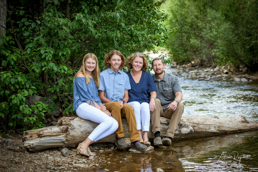 outdoor Colorado family portraits in Durango Colorado