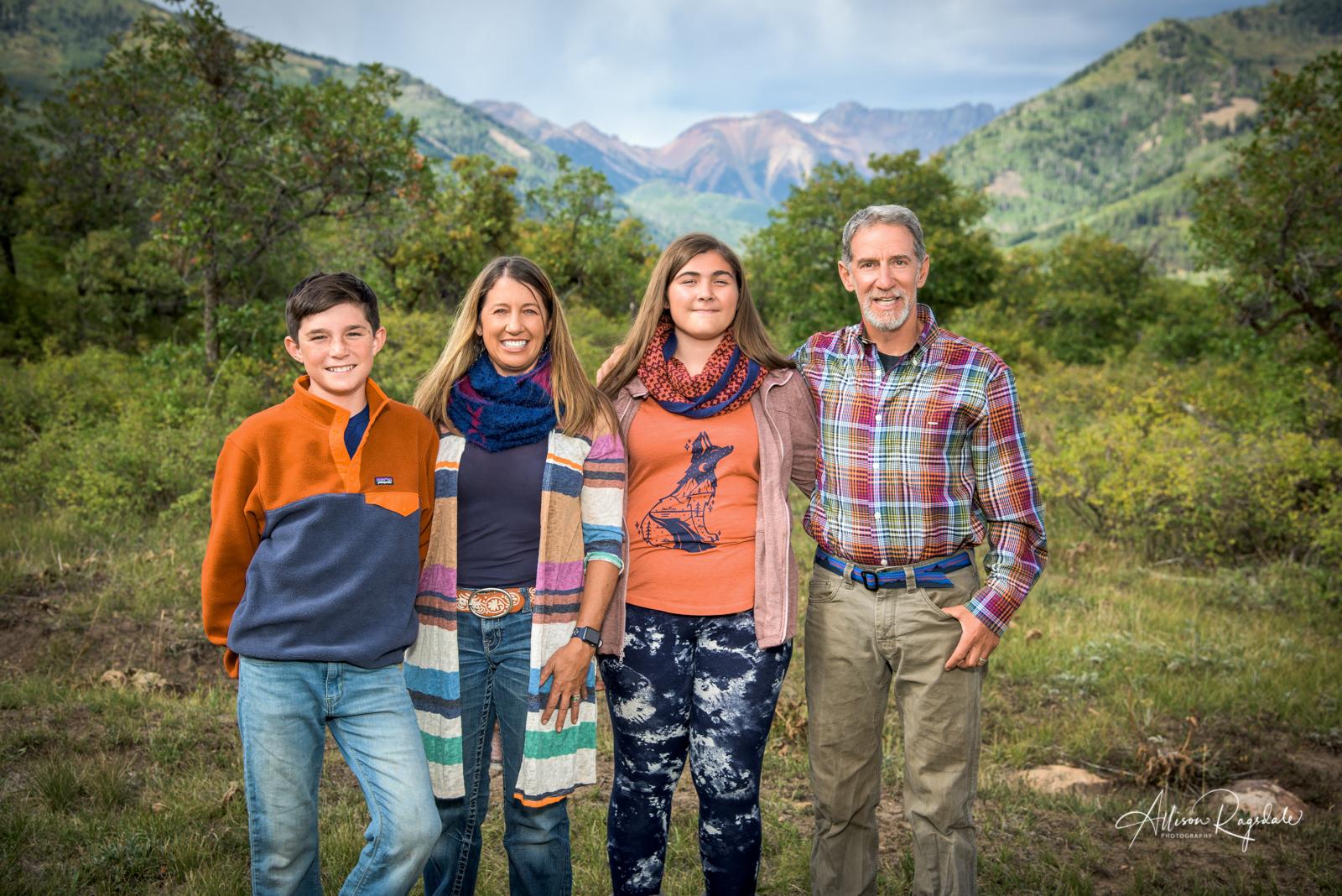 Allison Ragsdale Photography family portraits in Durango Colorado