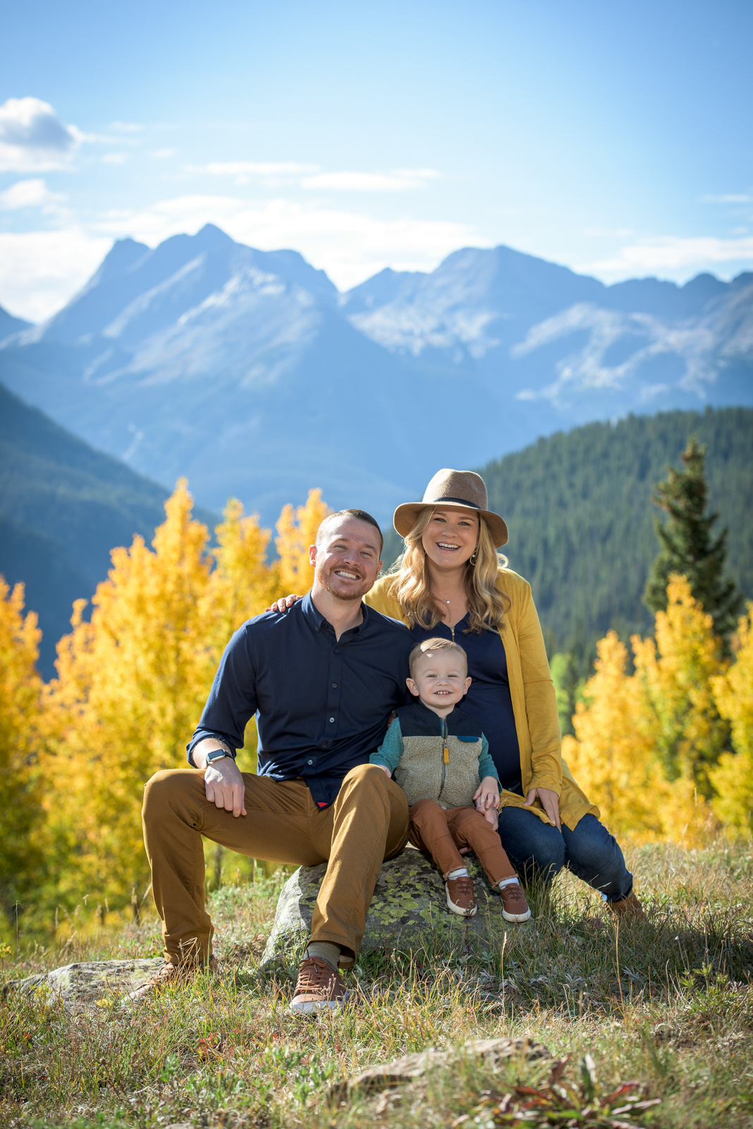 fall family portraits in Durango Colorado