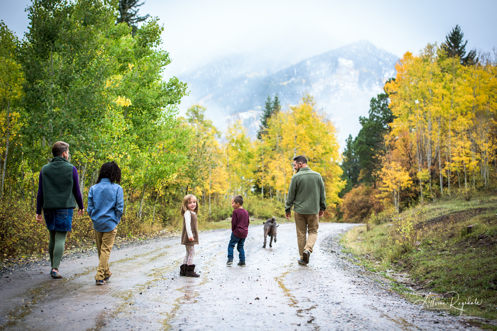 beautiful fall family portraits in Durango Colorado