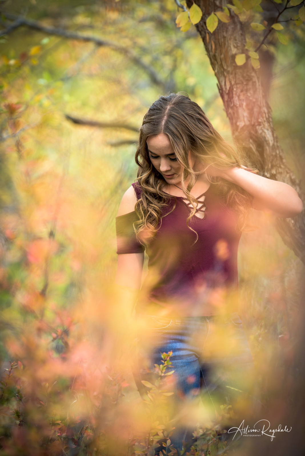 fall senior portraits for girls