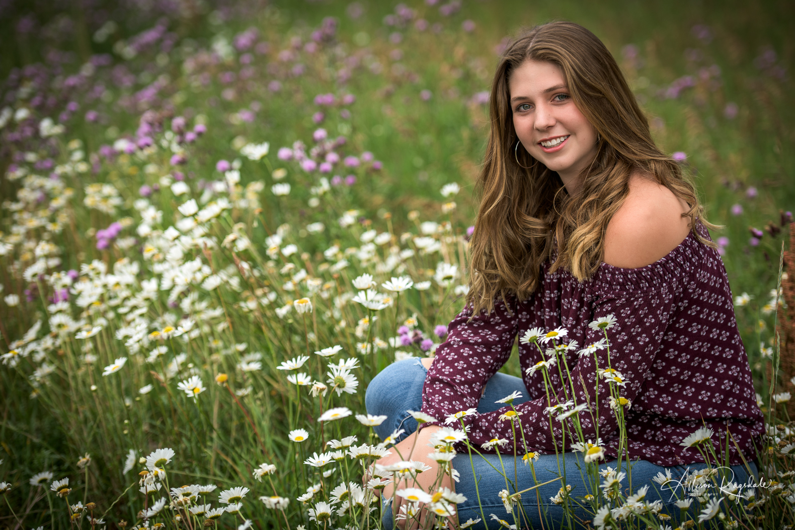 senior flower portraits