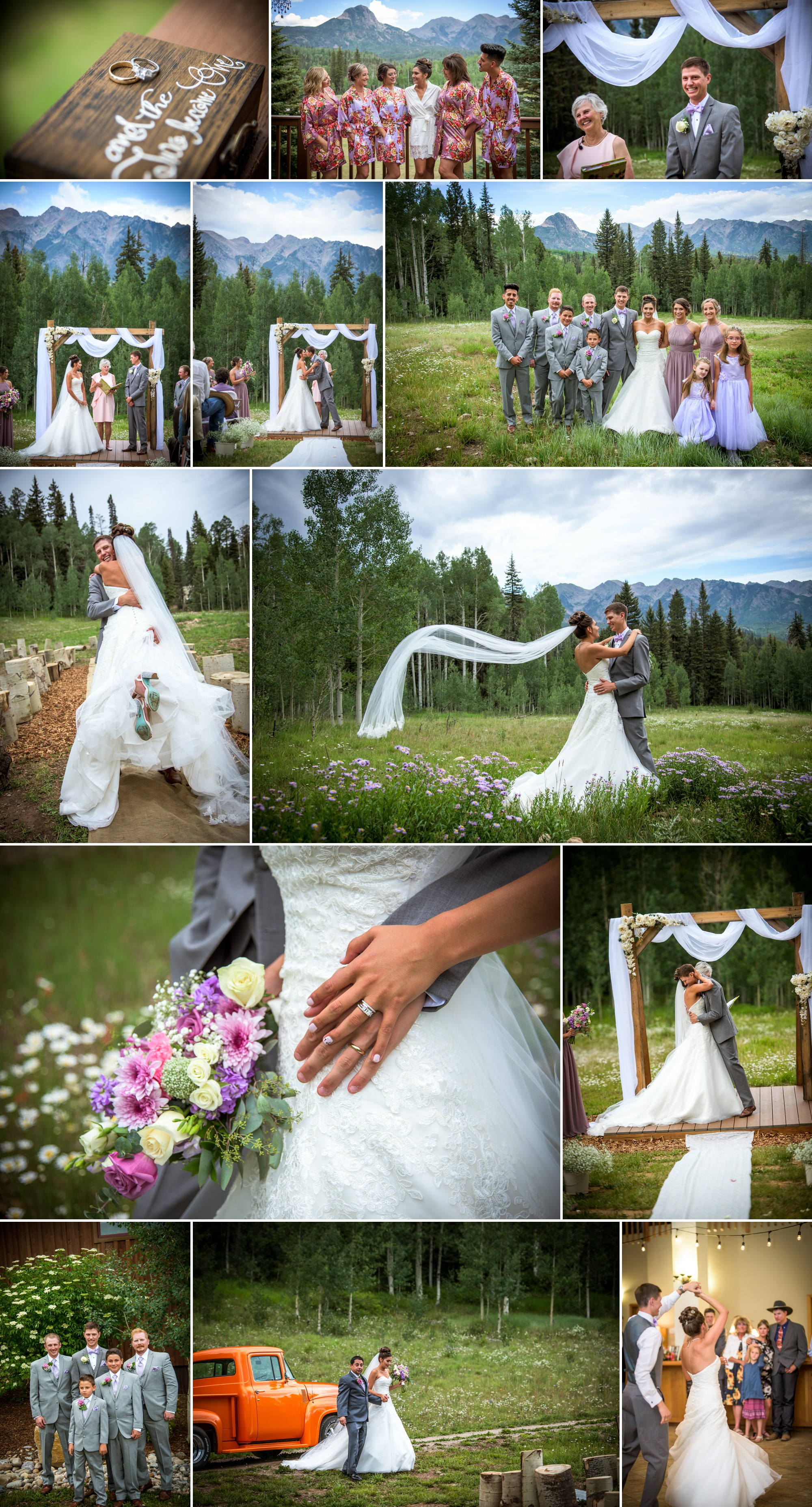 Wedding portraits in Durango Colorado by Allison Ragsdale Photography