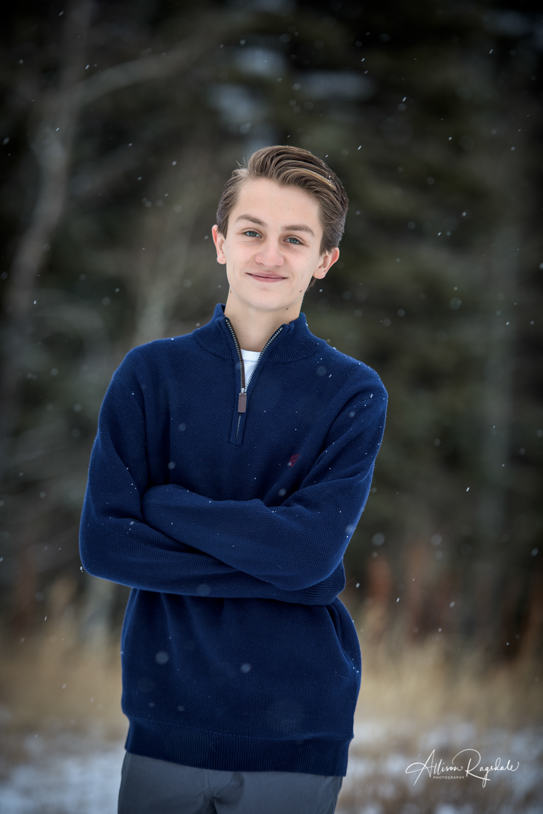 Winter Snow Senior Portraits