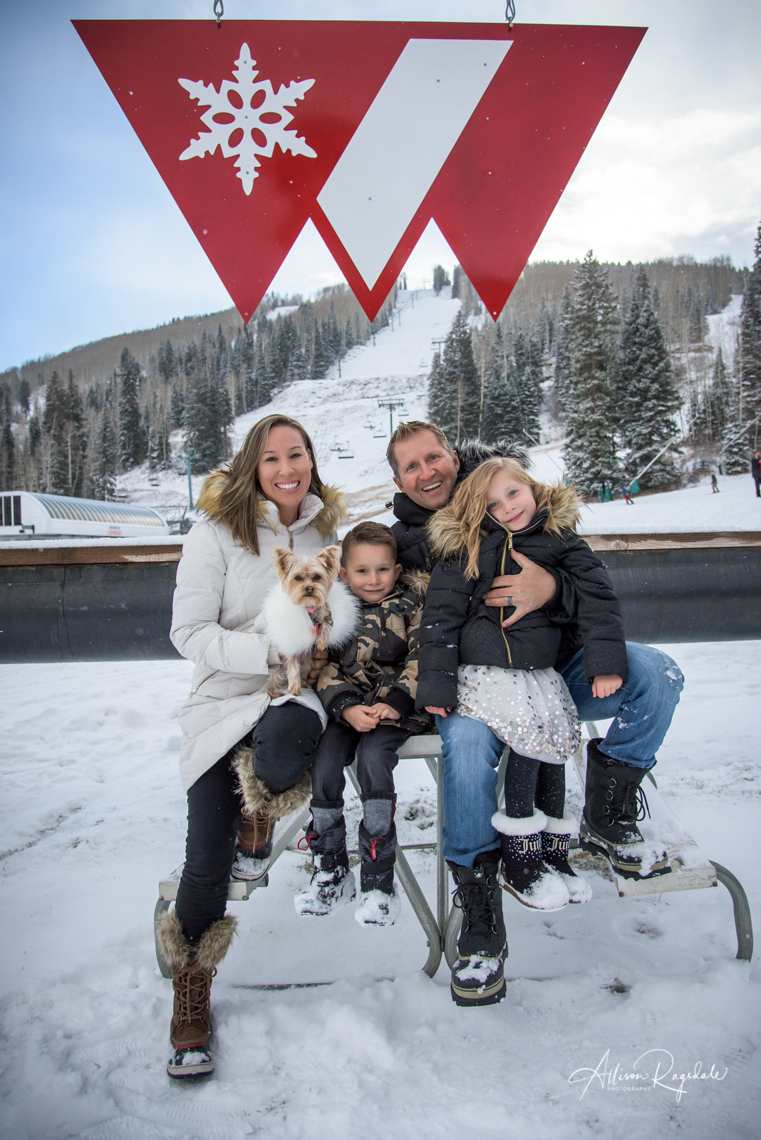 The Winters Family Durango Colorado Portraits at Purgatory Ski Resort Photographed by Durango CO Family Photographer Allison Ragsdale Photography