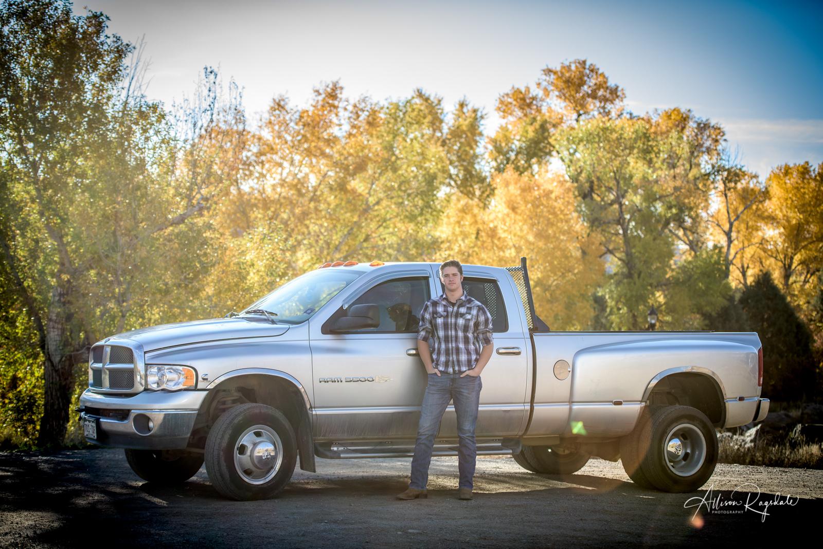 senior pictures with trucks Durango Colorado