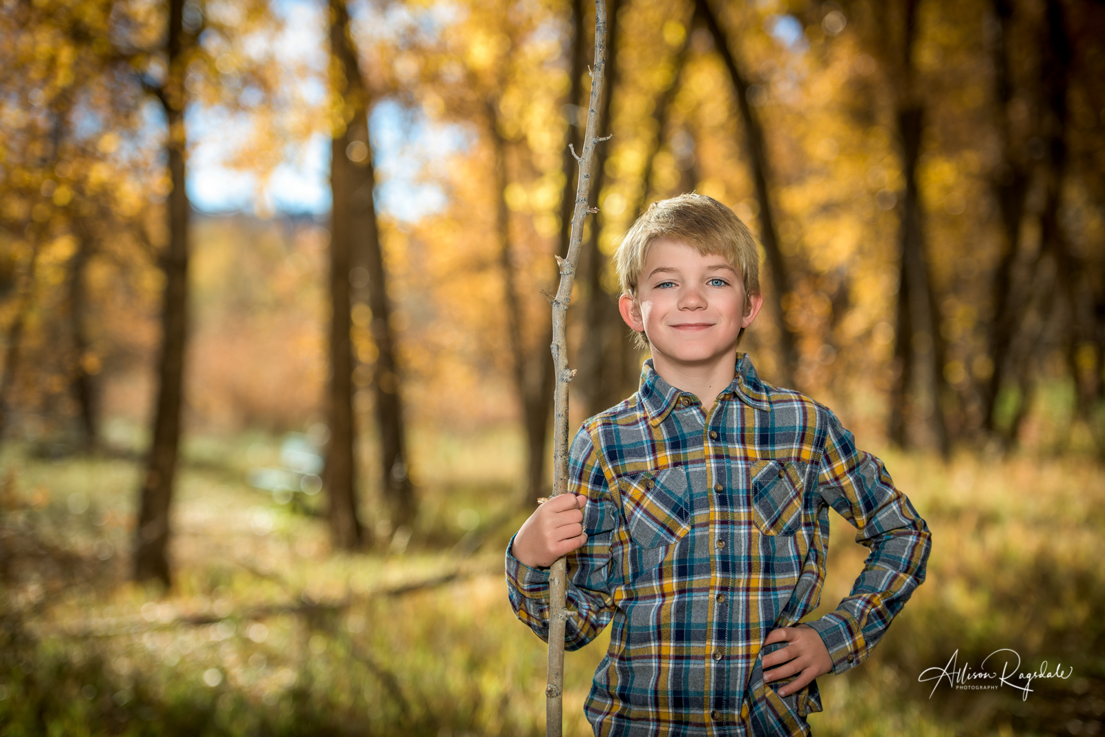 Fall Portraits in Fall Leaves