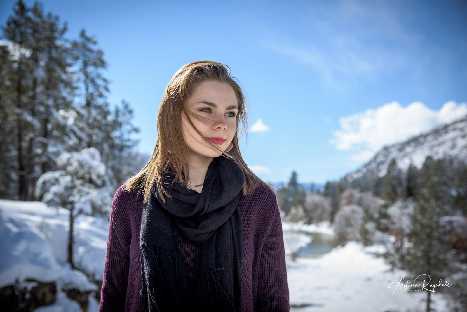 Kirby Niermeyer's Durango Colorado Winter Senior Portraits