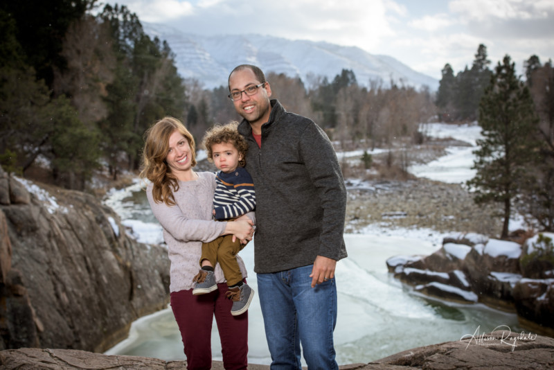 Family portraits outdoors in Durango Colorado
