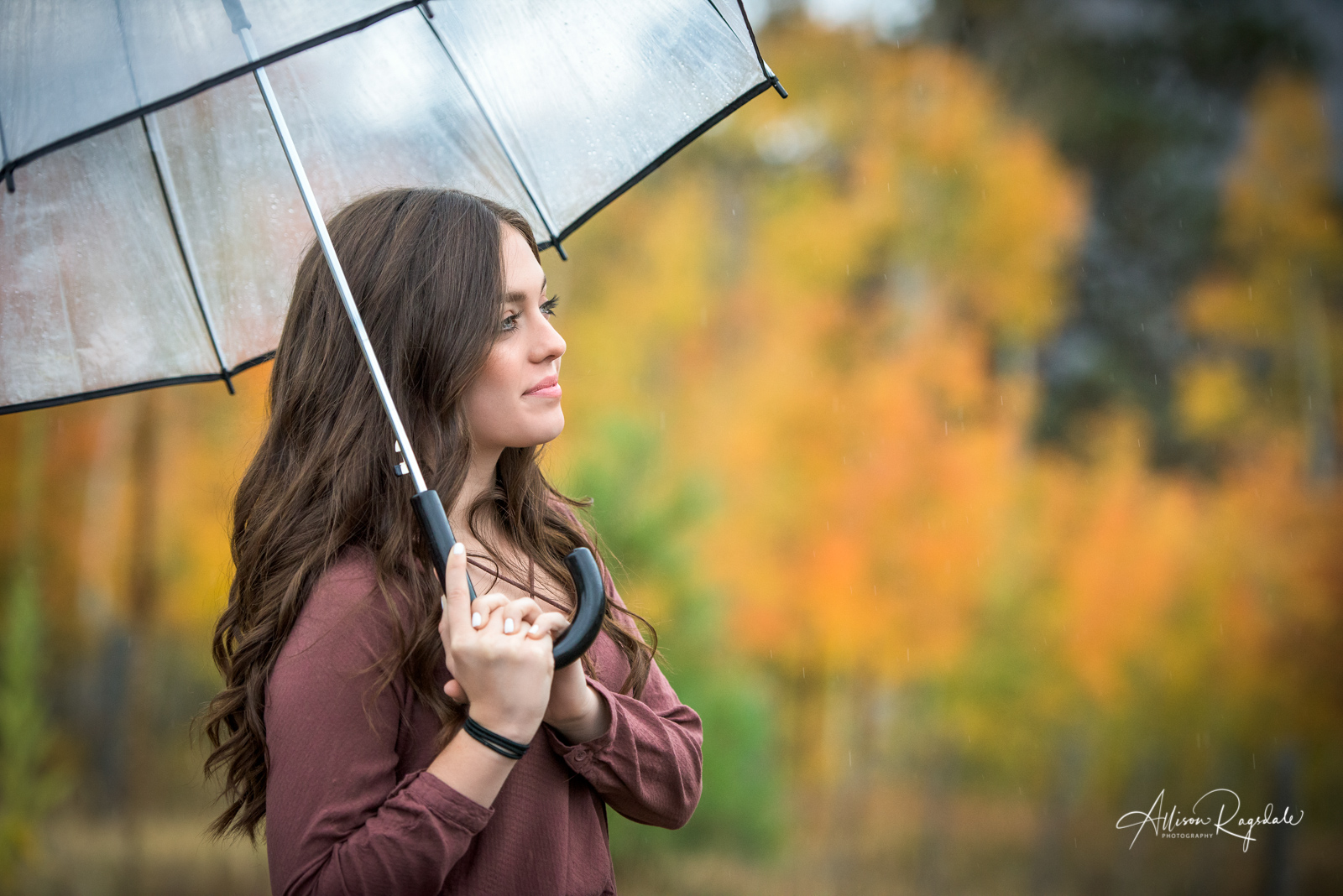 fall colors rain photoshoot