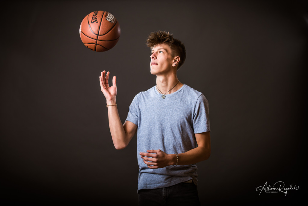 basketball portraits in studio