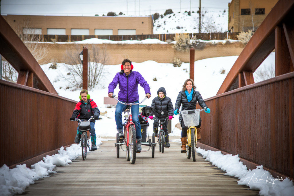 Winter Family Bike Ride