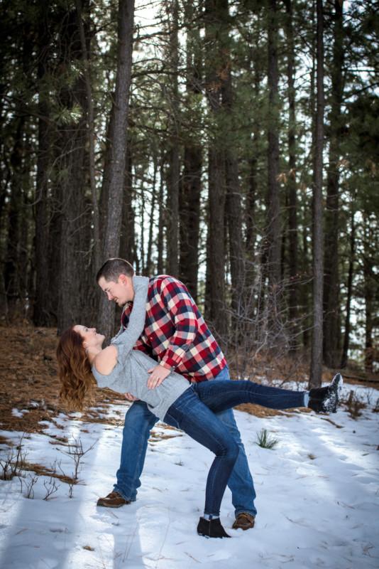 Winter Family Portraits in Durango CO