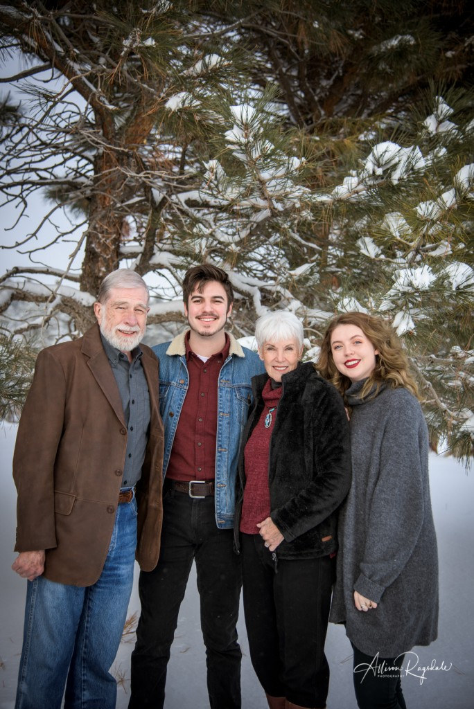 Snowy Family Portraits Durango