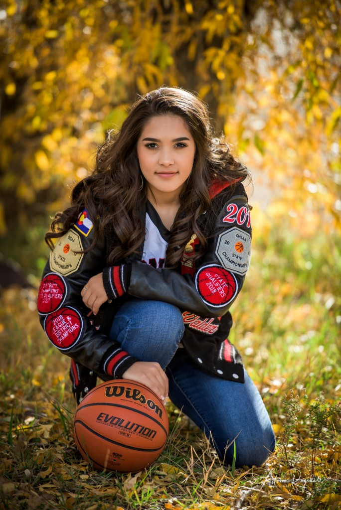 fall basketball senior portraits