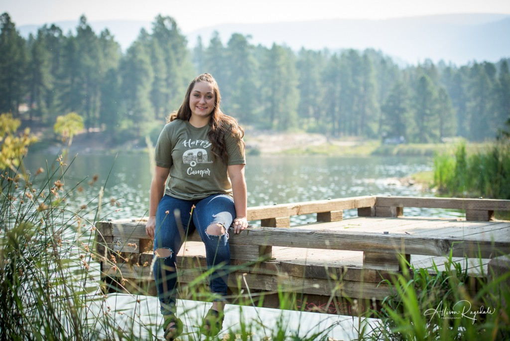 lake senior portraits