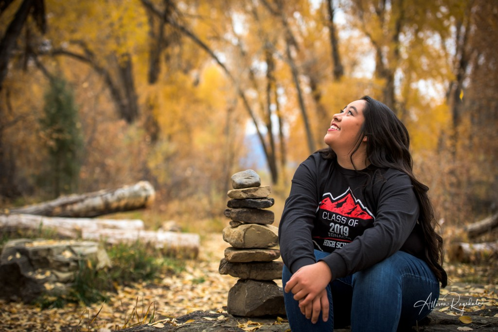 stunning fall senior pictures Colorado