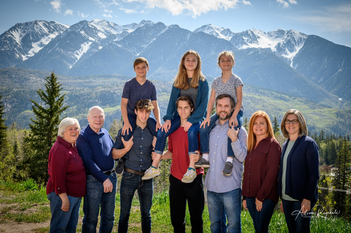 Family portraits taken in the mountains of Durango