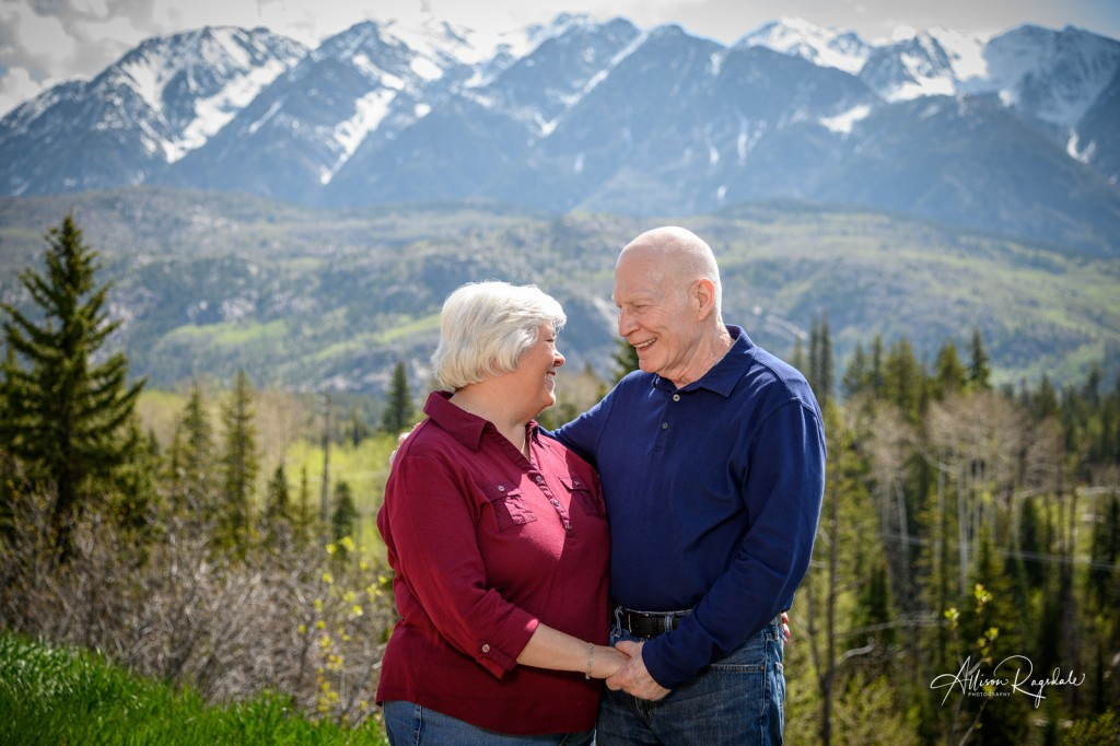 Older couple in the mountains, Demek Family Photography