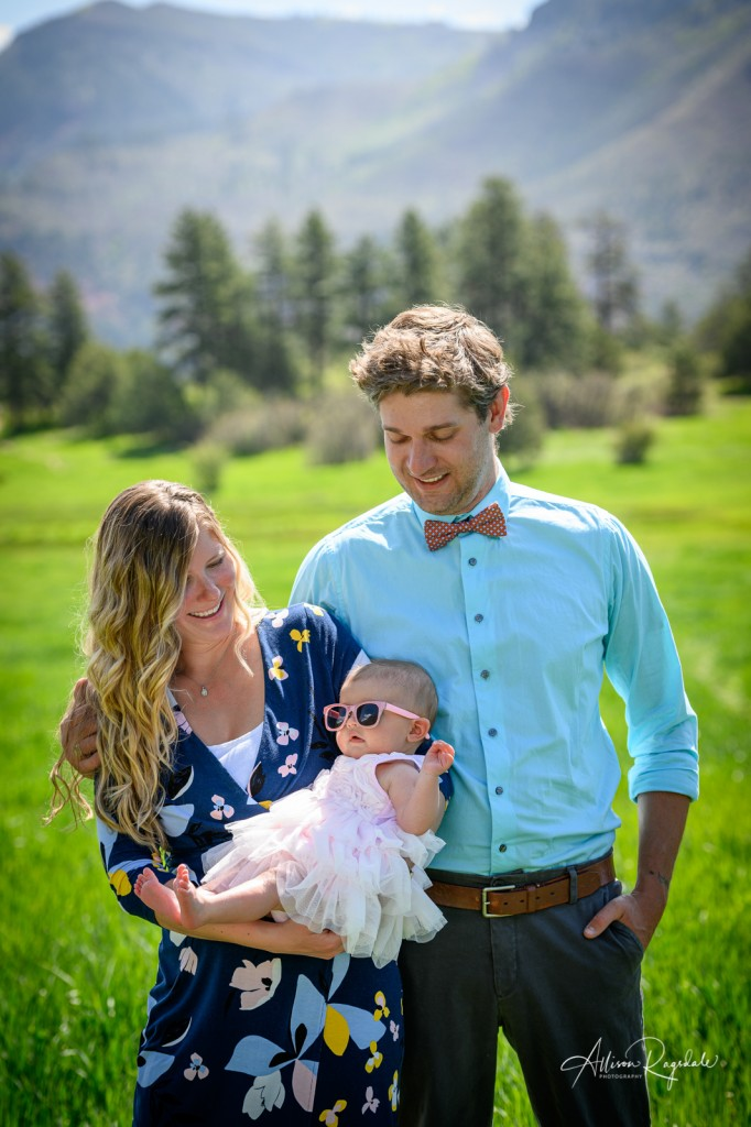 Durango photography of family in the mountains, the Mace Family