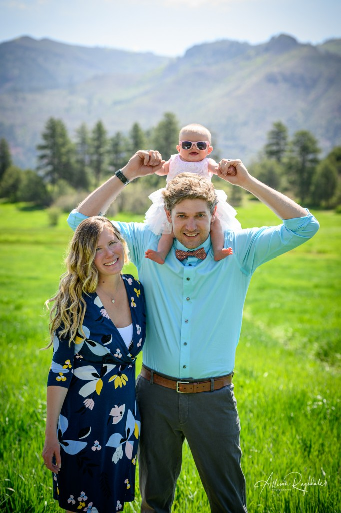 New parent photos in mountains, The Mace Family