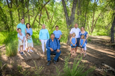 Outdoor family photos in forest, Kathy & Co.