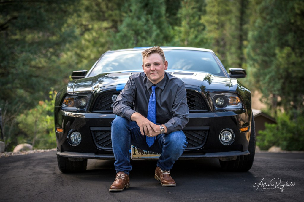 Guy with sports car, Senior Photography of Christian Swan