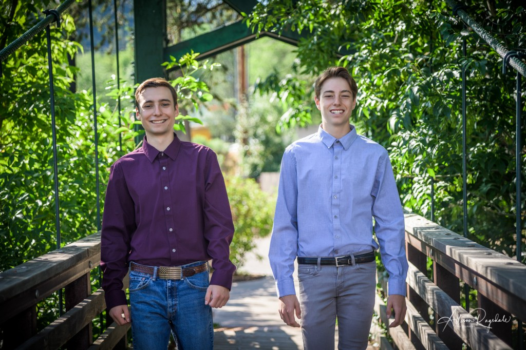 Outdoor sibling photography, Durango, The Anderson Brothers