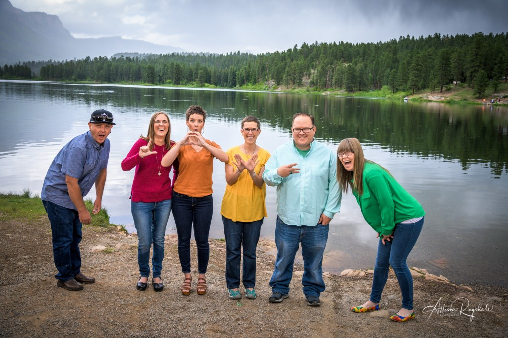 Fun family photos outdoors in Durango, The Nygren Family