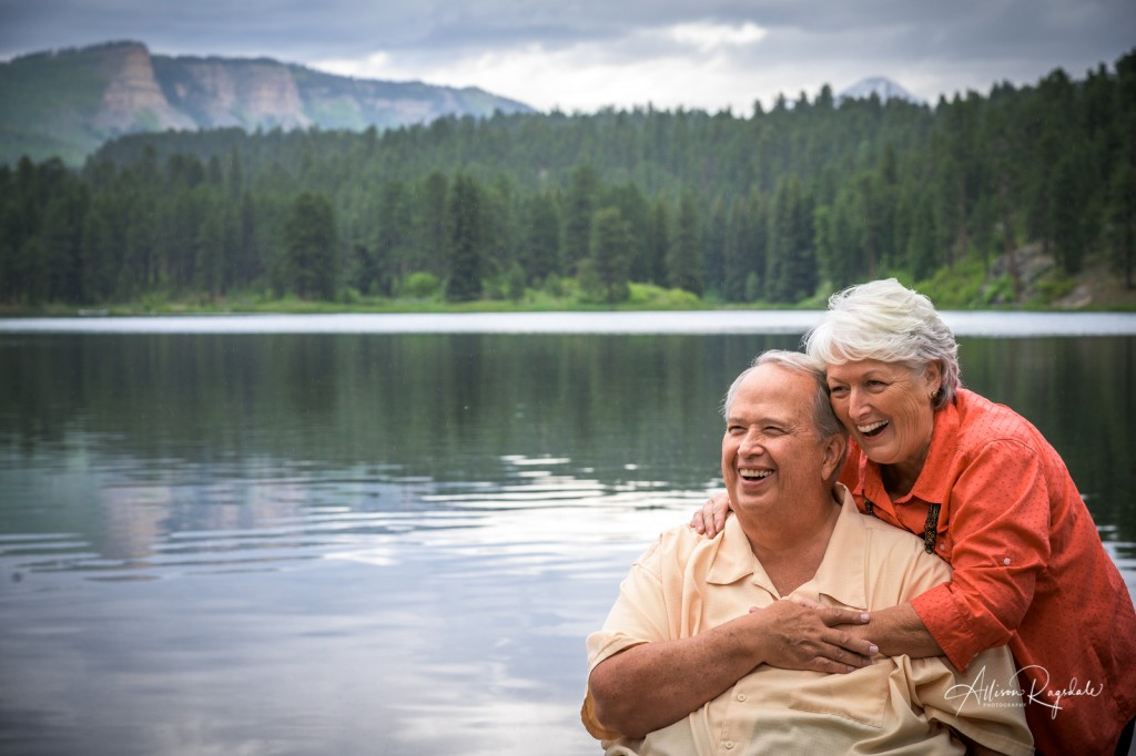 Older couple at the lake, the Nygren family portraits