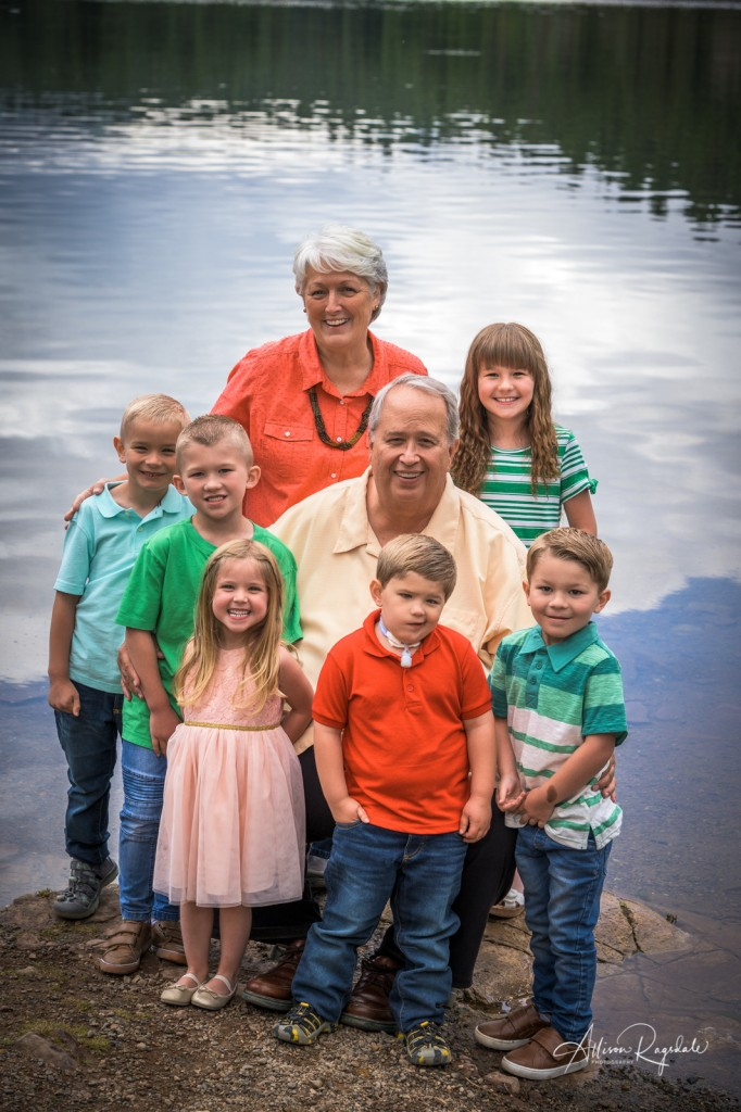 Family photography with grandma at the lake in Durango, the Nygren Family portraits