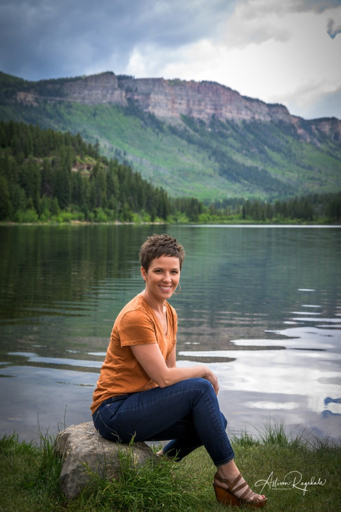 Lake portraits in Durango, the Nygren Family
